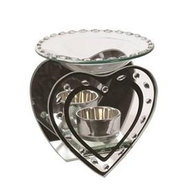 Heart Glass Wax Melt Burner