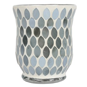 Pearlescent Grey Lustre Mosaic Hurricane