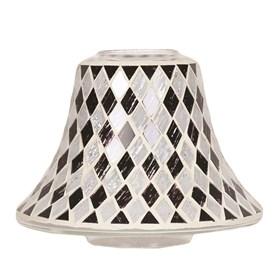 Black & White Diamond Candle Jar Lamp Shade