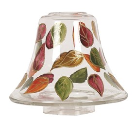 Hand Painted Leaves Candle Jar Lamp Shade