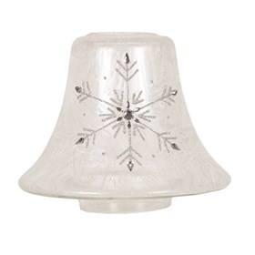 Frosted Snowflake Candle Jar Lamp Shade
