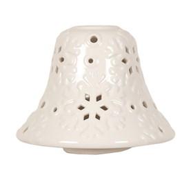 Snowflake Design Ceramic Candle Jar Lamp Shade