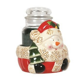 Snowman Candle Jar Holder