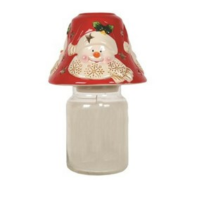 Snowman Candle Jar Shade