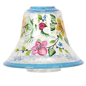 Hand Painted Hummingbird Candle Jar Lamp Shade