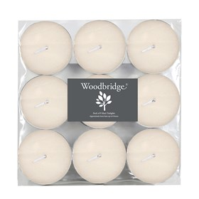 Woodbridge Tealights -  Maxi, Ivory