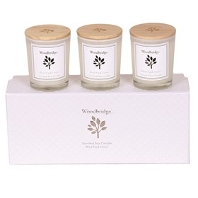 Black Fig & Cassis Set of 3 Soy Candles