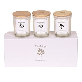 Lychee & Redcurrant Set of 3 Soy Candles