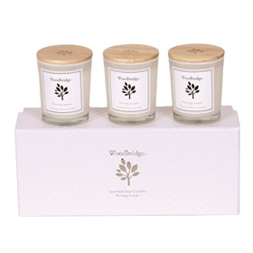 Pomegranate Set of 3 Soy Candles