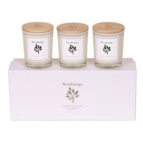 Orange Blossom Set of 3 Soy Candles
