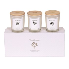 Cashmere & Lilac Set of 3 Soy Candles