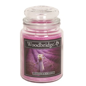 Lavender & Bergamot Woodbridge Large Scented Candle Jar