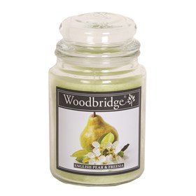 English Pear & Freesia Woodbridge Large Scented Candle Jar