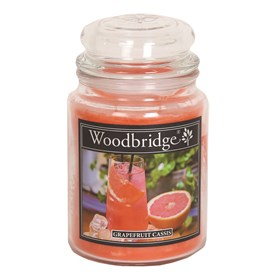 Grapefruit Cassis Woodbridge Large Scented Candle Jar