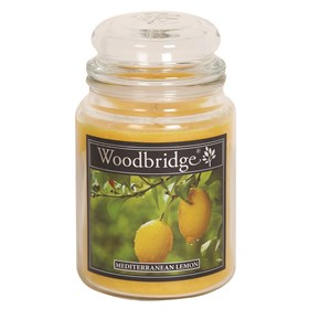 Mediterranean Lemon Woodbridge Large Scented Candle Jar