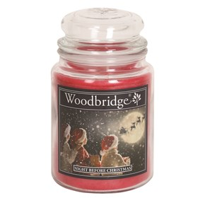 Night Before Christmas Woodbridge Large Scented Candle Jar