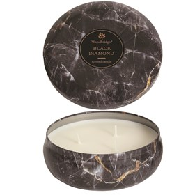 Black Diamond - Marble Candle Tin