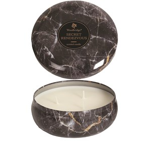 Secret Rendezvous -  Marble Candle Tin