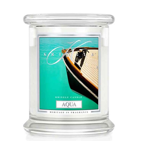 Aqua 14.5oz Candle Jar