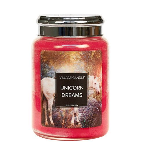 Unicorn Dreams Village Candle 26oz Scented Candle Jar