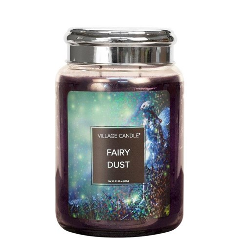 Fairy Dust Village Candle 26oz Scented Candle Jar - Metal Lid