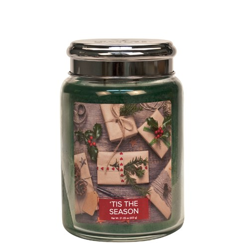 Tis The Season Village Candle 26oz Scented Candle Jar