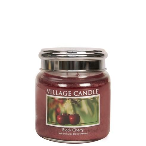 Black Cherry Village Candle 16oz Scented Candle Jar - Metal Lid