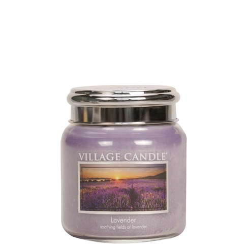 Lavender Village Candle 16oz Scented Candle Jar - Metal Lid