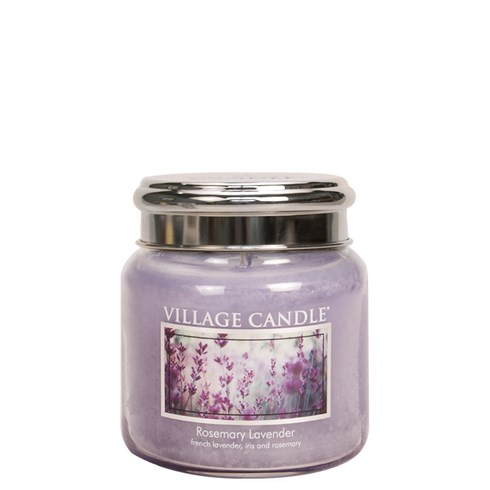 Rosemary Lavender Village Candle 16oz Scented Candle Jar - Metal Lid