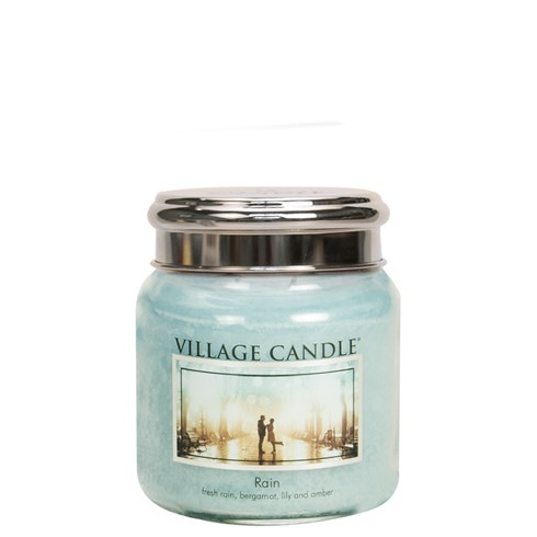 Rain Village Candle 16oz Scented Candle Jar - Metal Lid