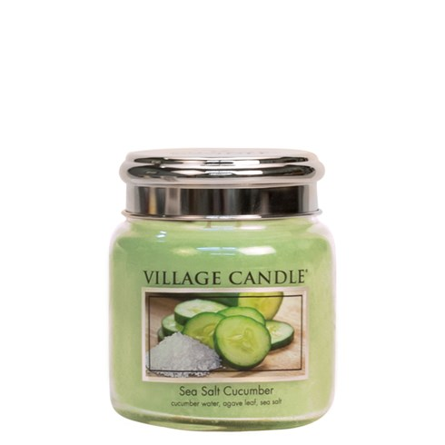 Sea Salt Cucumber Village Candle 16oz Scented Candle Jar