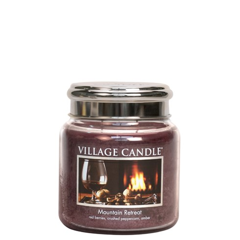 Mountain Retreat Village Candle 16oz Scented Candle Jar - Metal Lid