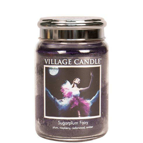 Sugarplum Fairy Village Candle 26oz Scented Candle Jar - Metal Lid