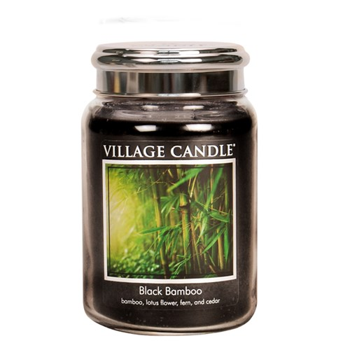Black Bamboo Village Candle 26oz Scented Candle Jar