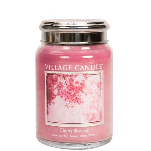 Cherry Blossom Village Candle 26oz Scented Candle Jar - Metal Lid
