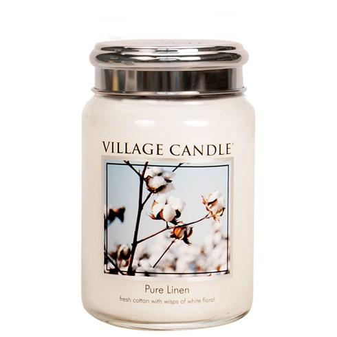 Pure Linen Village Candle 26oz Scented Candle Jar