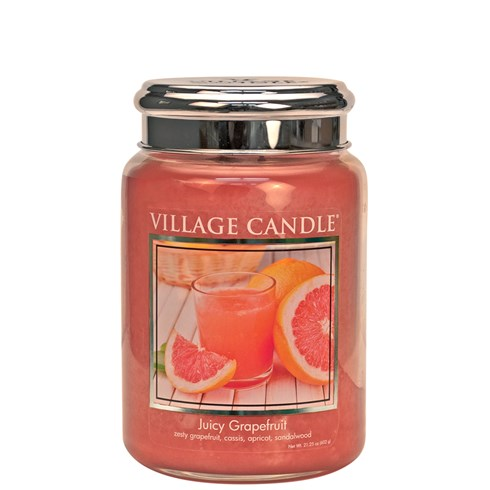 Juicy Grapefruit Village Candle 26oz Scented Candle Jar - Metal Lid