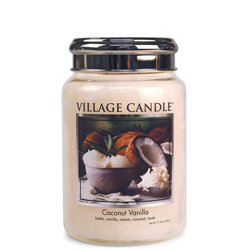 Coconut Vanilla Village Candle 26oz Scented Candle Jar