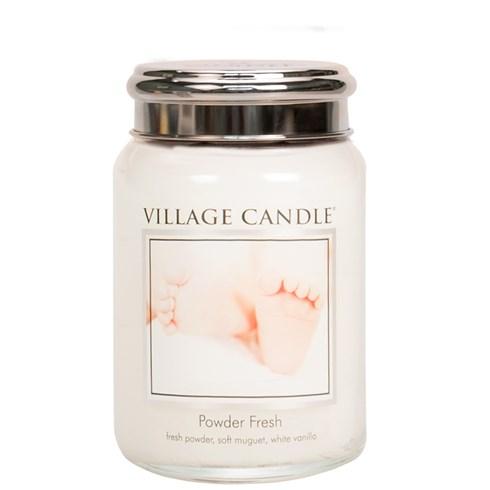 Powder Fresh Village Candle 26oz Scented Candle Jar - Metal Lid