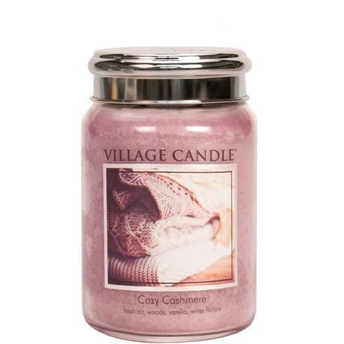 Cozy Cashmere Village Candle 26oz Scented Candle Jar