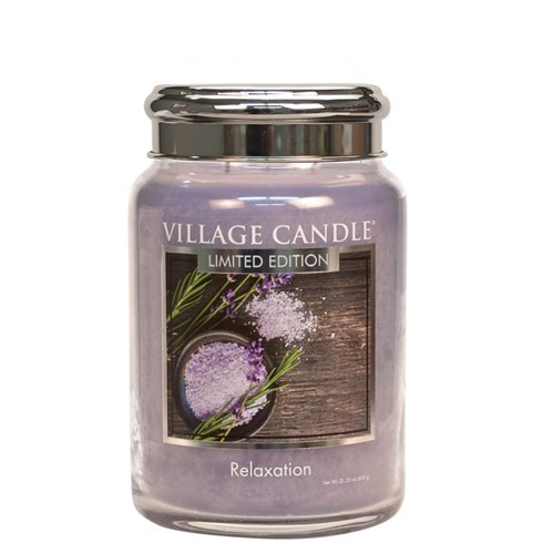 Relaxation Village Candle 26oz Scented Candle Jar - Metal Lid