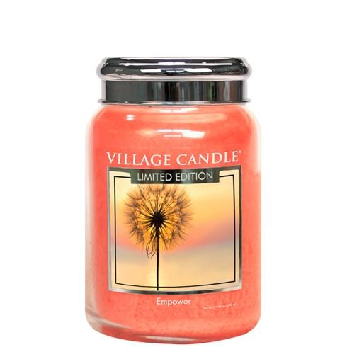 Empower Village Candle 26oz Scented Candle Jar - Metal Lid