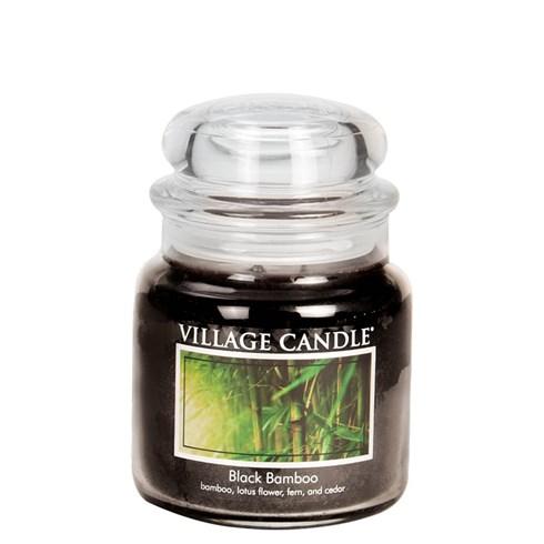 Black Bamboo Village Candle Medium Scented Jar