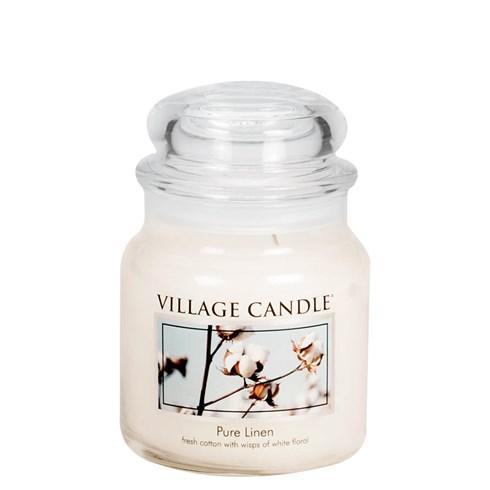 Pure Linen Village Candle Medium Scented Jar