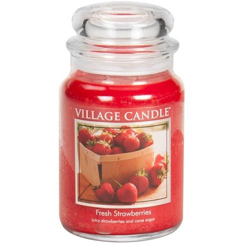 Fresh Strawberries Village Candle Large Scented Jar