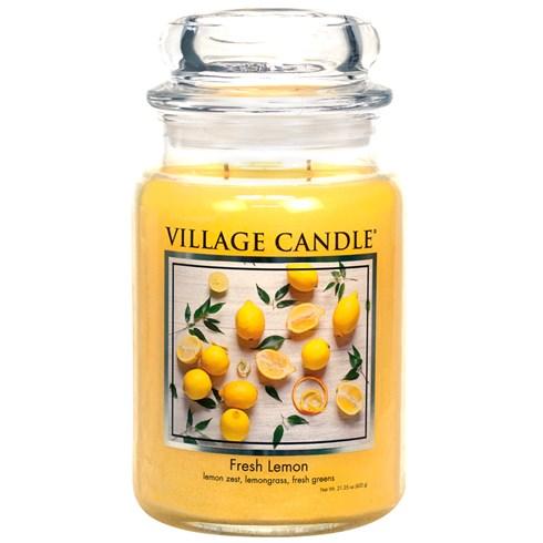 Fresh Lemon Village Candle Large Scented Jar
