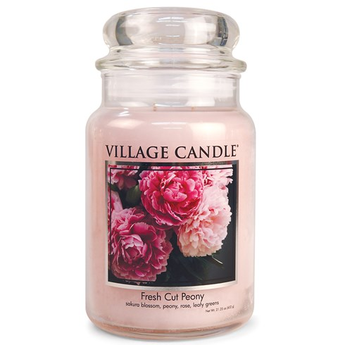 Fresh Cut Peony Village Candle Large Scented Jar