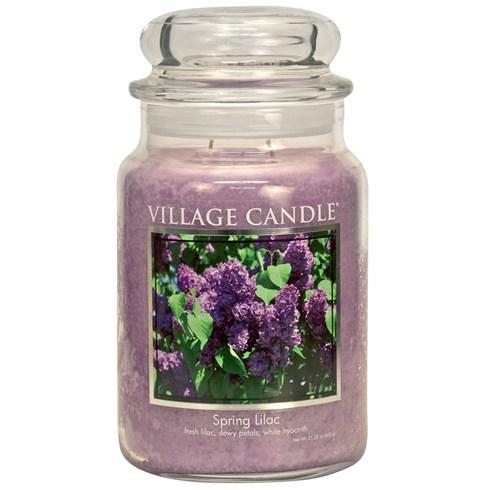 Spring Lilac Village Candle Large Scented Jar