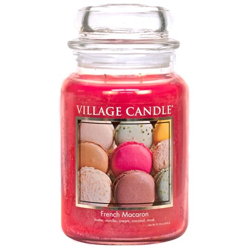 French Macaron Village Candle Large Scented Jar