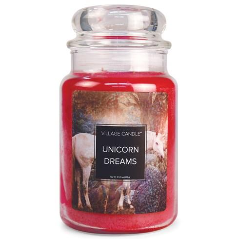 Unicorn Dreams Village Candle Large Scented Jar